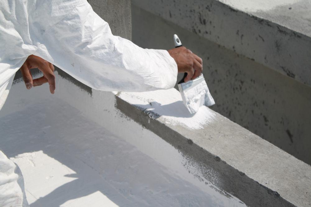 weiße farbe dach