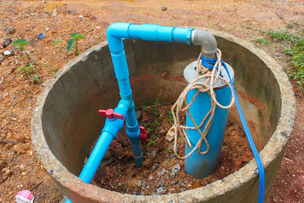 Spülen eines Brunnens
