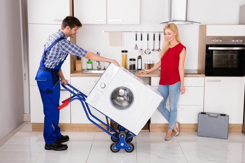 transport einer waschmaschine
